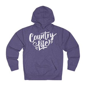 Country Life Hoodie - White Ink