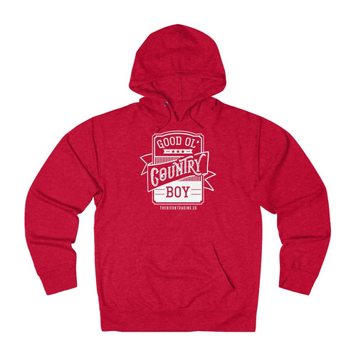 Good Ol' Country Boy Hoodie - White Ink