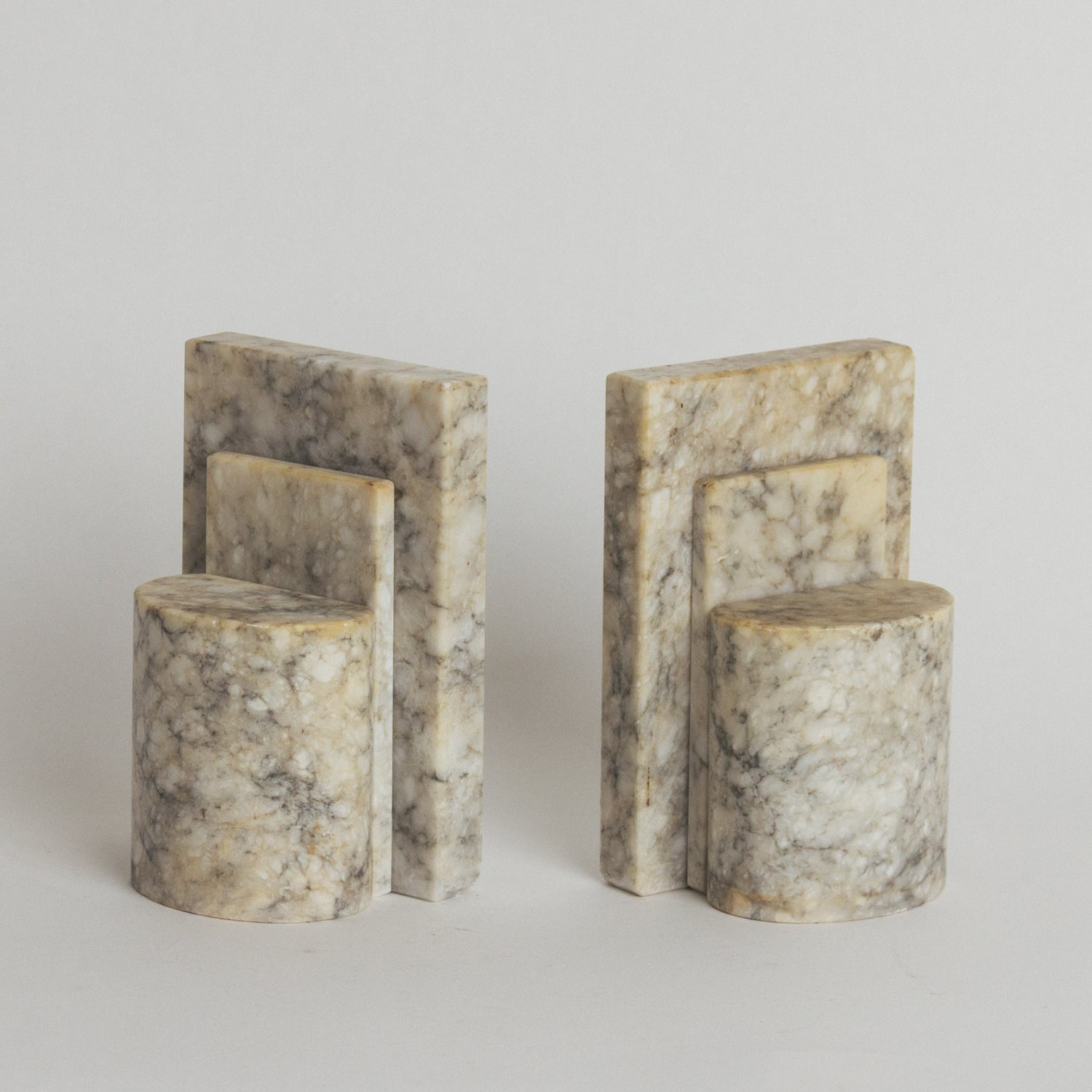 Marble Art Deco Bookends