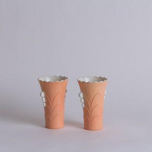 Peach Porcelain Vase Set