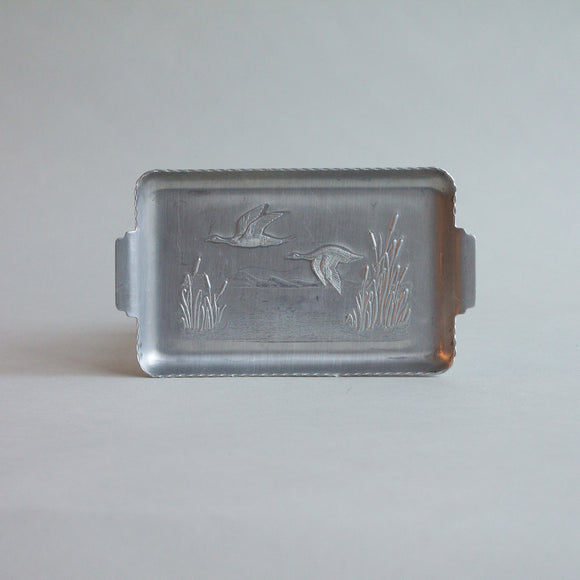 Midcentury Embossed Duck Tray