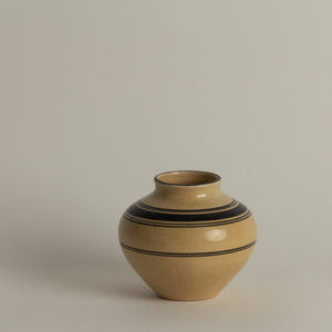 Striped Cream Vase