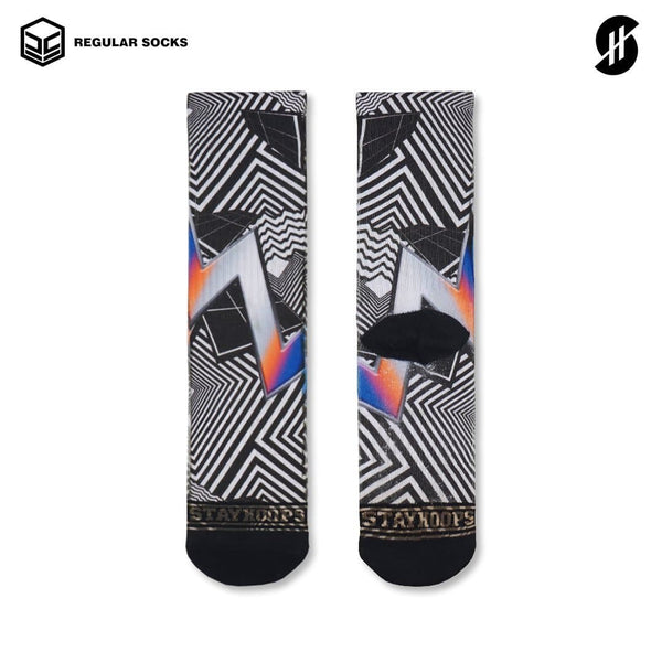 Kaos kaki olahraga Regular Fullprint motif Stayhoops