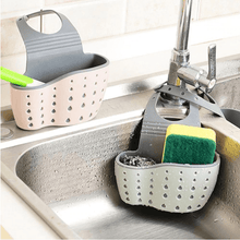 Load image into Gallery viewer, Hanging Kitchen Sink Organizer | Adjustable Storage Basket - OFFLIVING.