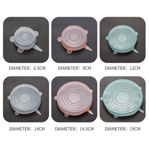 Universal Silicone Food Cover | Reusable & Eco-Friendly | 6 Stretch Lids/Set - OFFLIVING.