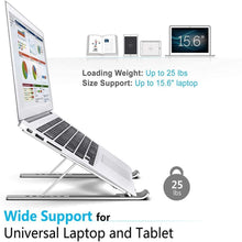 Load image into Gallery viewer, Premium Lightweight Laptop Stand | Adjustable & Foldable