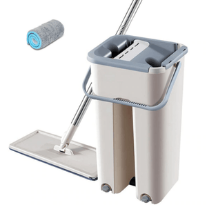 Magic Hands-Free Mop | Bucket And Cloths Included | Clean Quicker And Easier - OFFLIVING.