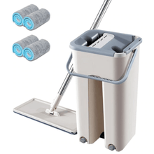 Load image into Gallery viewer, Magic Hands-Free Mop | Bucket And Cloths Included | Clean Quicker And Easier - OFFLIVING.