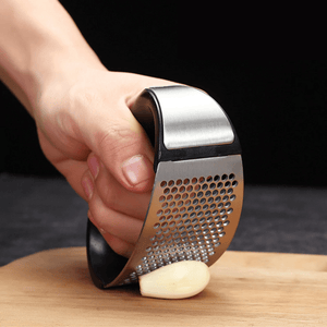 Best Manual Garlic Press | Stainless Steel, Easiest Way To Press Garlic And Ginger - OFFLIVING.