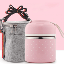 Load image into Gallery viewer, Cute Thermal Bento Lunch Box | Leak-Proof Stainless Steel | Perfect School Lunch Box - OFFLIVING.