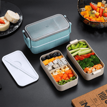 Load image into Gallery viewer, Bento Lunch Box | Microwave And Leak-Proof | Stackable Food Container - OFFLIVING.