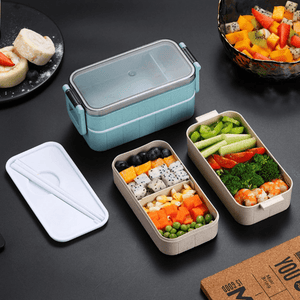 Bento Lunch Box | Microwave And Leak-Proof | Stackable Food Container - OFFLIVING.
