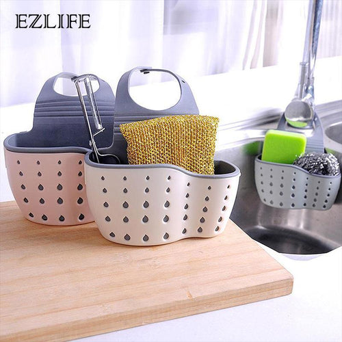 Hanging Kitchen Sink Organizer | Adjustable Storage Basket - OFFLIVING.
