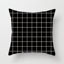 Load image into Gallery viewer, Decorative Black And White Pillowcases | Geometric, Hearts, Stars & Other Patterns - OFFLIVING.