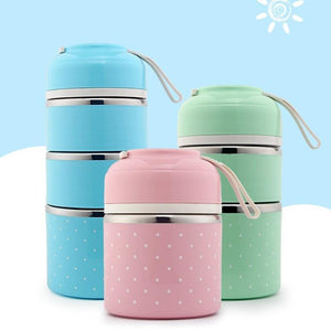 Cute Thermal Bento Lunch Box | Leak-Proof Stainless Steel | Perfect School Lunch Box - OFFLIVING.