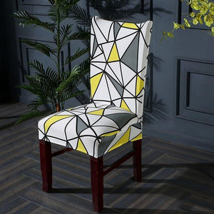 Printed Elastic Chair Covers | Protects And Looks Great | Universal Size - OFFLIVING.