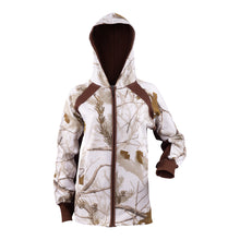 Lades Zip Fleece Hoodie in Realtree AP Snow Camo Print