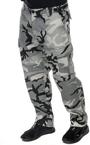 Men's Military BDU Six Pocket Pants in Urban Camo Print