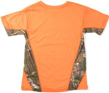 Youth Athletic Short Sleeve T-Shirt with Realtree Camo Accents