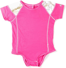 Infant Colorblocked Onesie in Pink with Realtree Camo Accents
