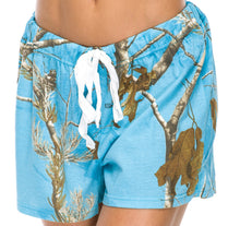 Ladies Sleep Shorts in Realtree AP Blue Fish Camo Print