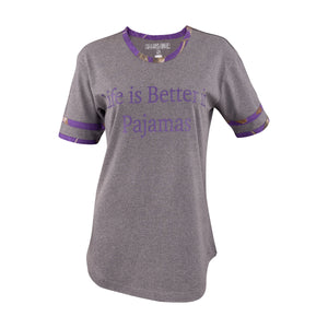 "Ladies ""Life Is Better In Pajamas"" Sleep Shirt with Realtree Camo Accents"