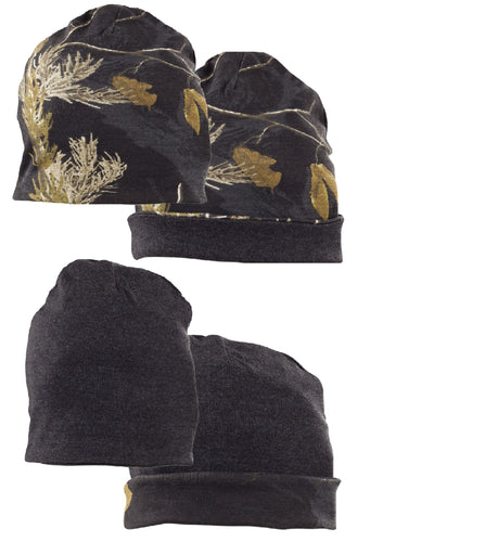 Men's Reversible Beanie in Realtree AP Black Camo Print