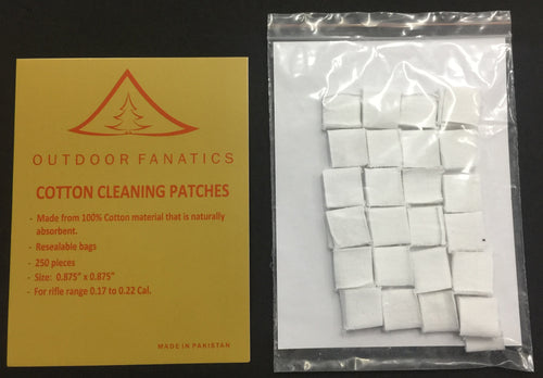 100% Cotton Gun Cleaning Patches-250 Count