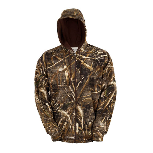 Men's Zip Fleece Hoodie in Realtree Max 5 Camo Print