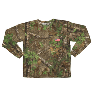 Men's Patriotic Long Sleeve Tee in Realtree Camo Print