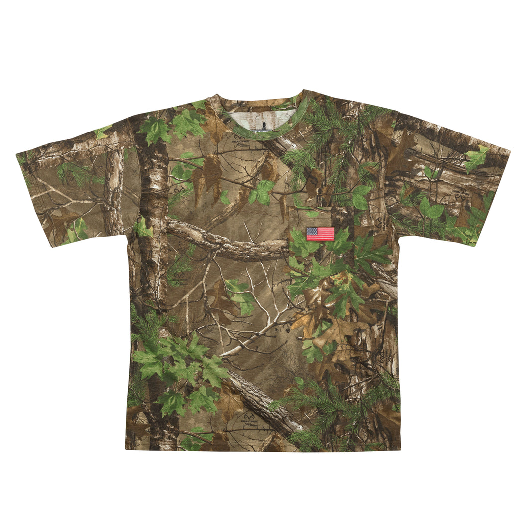 Men's Short Sleeve Realtree Camo Patriotic Tee