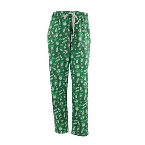 Men's Lounge Pants in Smoke Graphic Print (Green/White)
