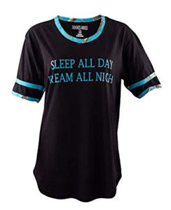 "Ladies ""Sleep All Day Dream All Night"" Sleep Shirt with Realtree Camo Accents"