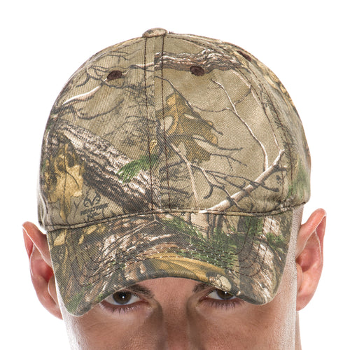 Adult Hunting Baseball Cap in All Over Realtree Camo Print