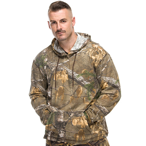 Men's Long Sleeve Hooded Shirt in Realtree Xtra Camo Print
