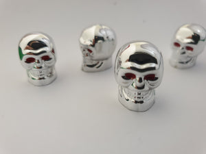 Chrome Skull Valve Stem