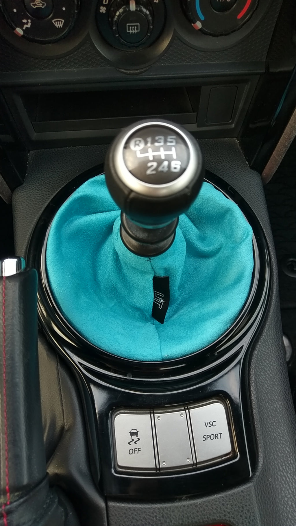 Turquoise Suede Shift Boot