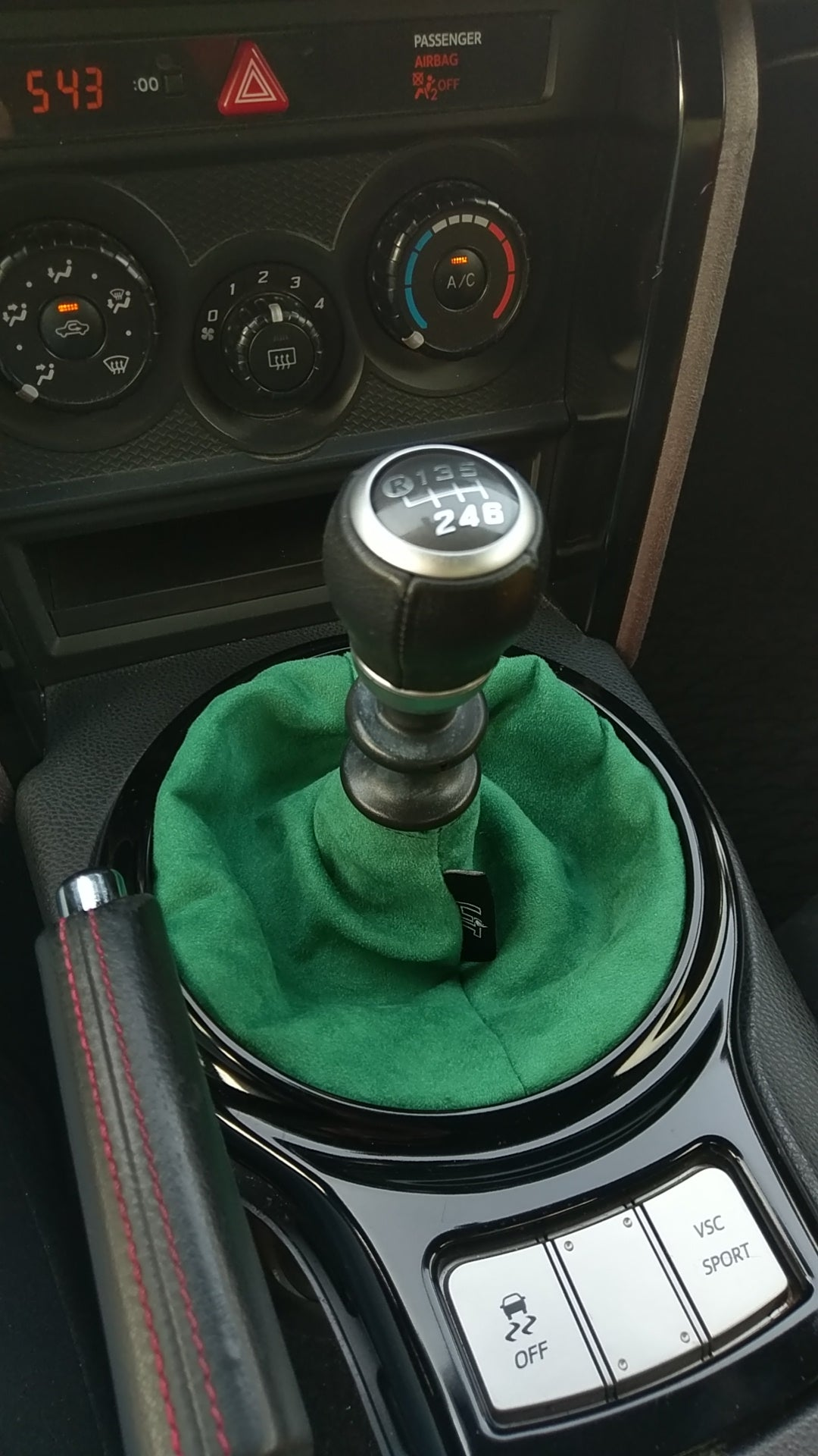 Green Suede Shift Boot