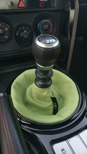 Lime Green Suede Shift Boot