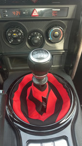 The Red & Black Striped Shift Boot