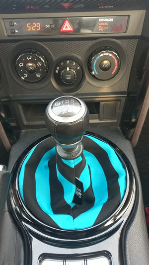 The Aqua Blue & Black Striped Shift Boot