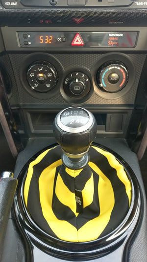 The Yellow & Black Striped Shift Boot