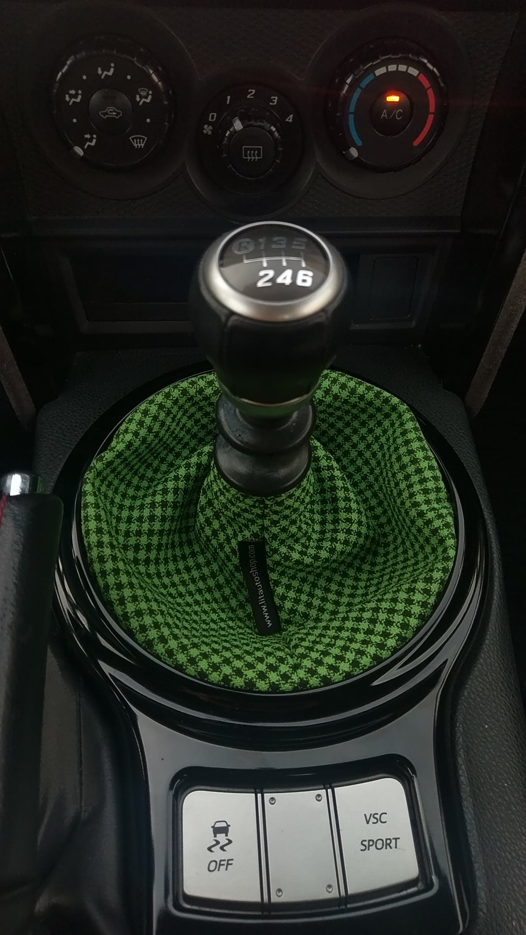 Green Checkered Shift Boot