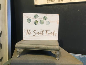 Botanical Shelf Sitter sign