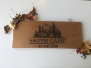 Small Camper Sign