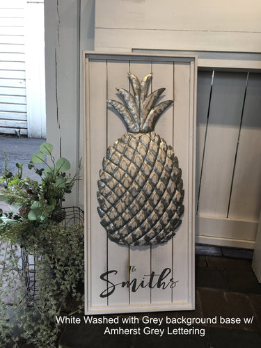 Pineapple Welcome/Name Sign