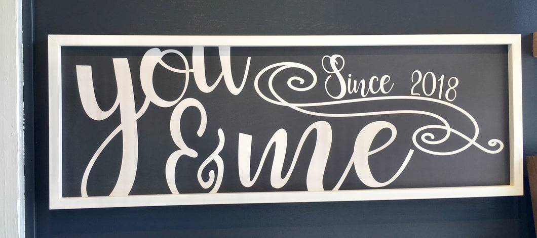 You & Me 12x36 Cyber Grey Background