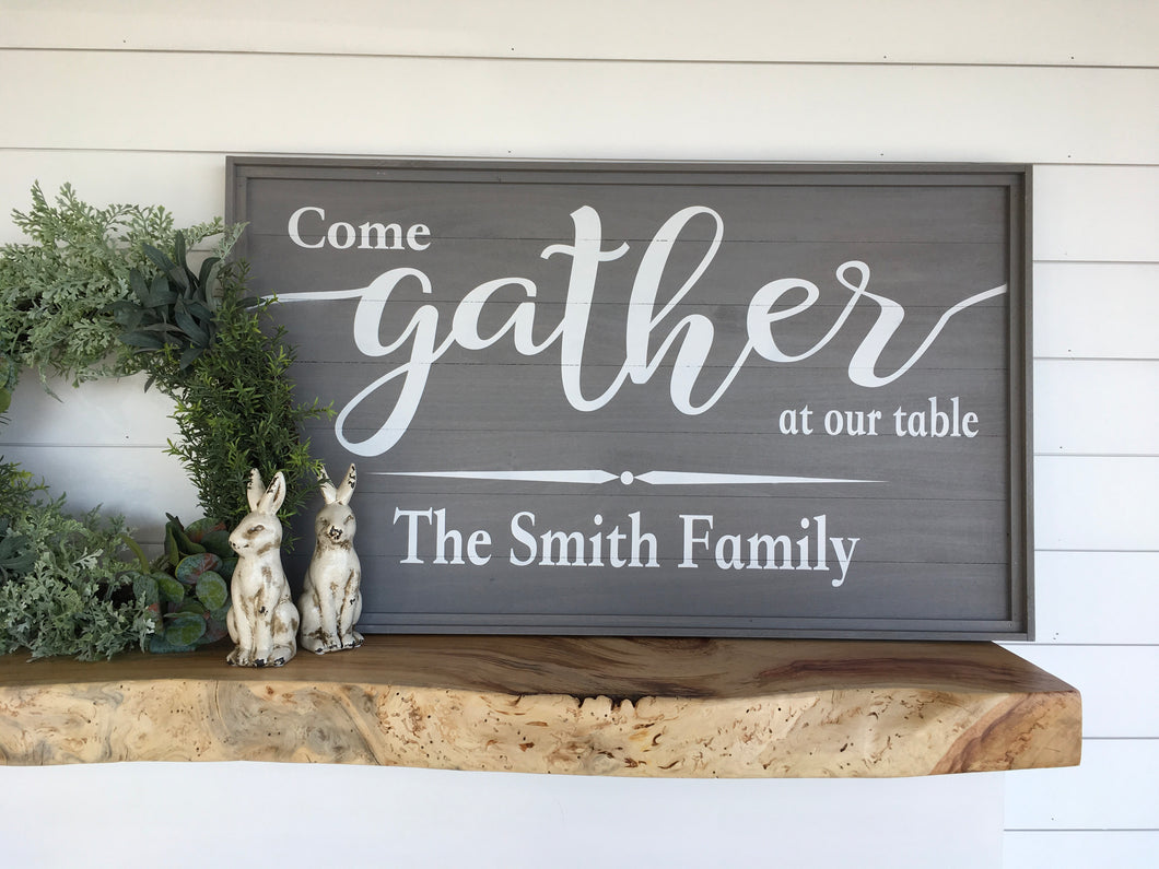 Gather at Our Table Sign