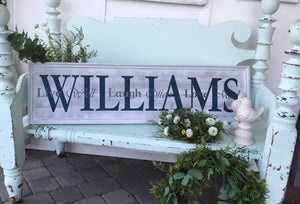 12 x 48 Horizontal Plank Sign