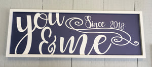 You & Me 12x36 Summer Blue Background